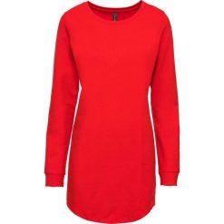 Bluza dresowa bonprix truskawkowy. Czerwone bluzy damskie bonprix, z dresówki. Za 89,99 zł.