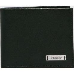Calvin Klein - Portfel skórzany. Czarne portfele męskie marki Calvin Klein, z materiału. Za 199,90 zł.