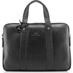 Torba na laptopa 20-3-044-11. Czarne torby na laptopa marki Wittchen, w paski, z tłoczeniem. Za 1269,00 zł.