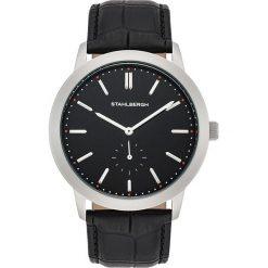 Zegarki męskie: Zegarek kwarcowy w kolorze czarno-srebrno-białym