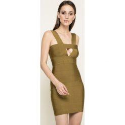 Missguided - Sukienka. Szare sukienki dzianinowe marki Missguided, na co dzień, casualowe, mini, dopasowane. W wyprzedaży za 99,90 zł.