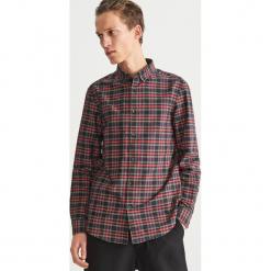 Koszula w kratę slim fit - Czerwony. Czerwone koszule męskie slim marki Cropp, l. Za 119,99 zł.