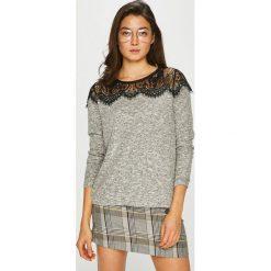 Only - Sweter Idaho. Szare swetry klasyczne damskie ONLY, l, z dzianiny, z okrągłym kołnierzem. Za 119,90 zł.