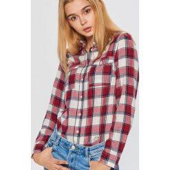 Koszula w kratę - Bordowy. Czerwone koszule wiązane damskie Cropp, l. Za 49,99 zł.