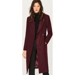 Płaszcze damskie pastelowe: Płaszcz z wełną - Fioletowy