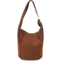 Torebki klasyczne damskie: Skórzana torebka w kolorze brązowym – 38 x 24 x 30 cm