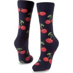 Skarpety Wysokie Unisex HAPPY SOCKS - CHE01-6000 Granatowy Kolorowy. Niebieskie skarpetki męskie Happy Socks, w kolorowe wzory, z bawełny. Za 34,90 zł.