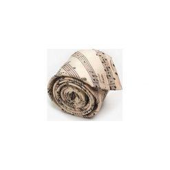 KRAWAT STRADIVARIUS. Brązowe krawaty męskie marki Marthu, w kolorowe wzory, z satyny. Za 129,00 zł.