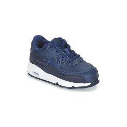 Buty Dziecko Nike  AIR MAX 90 LEATHER TODDLER. Niebieskie trampki chłopięce Nike. Za 207,20 zł.