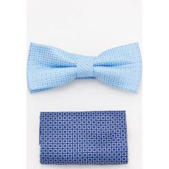 Akcesoria męskie: Mucha w kropki – Niebieski