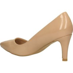 CZÓŁENKA CASU AH86036. Brązowe buty ślubne damskie Casu, na koturnie. Za 64,99 zł.