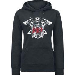Slayer Triple Goat Bluza z kapturem damska czarny. Czarne bluzy rozpinane damskie Slayer, s, z nadrukiem, z kapturem. Za 164,90 zł.