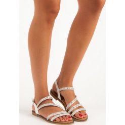 Sandały damskie: ANA stylowe białe sandały