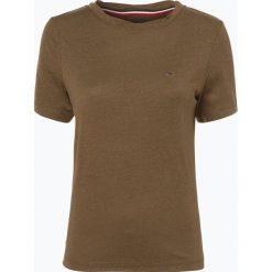 Tommy Jeans - T-shirt damski, zielony. Zielone t-shirty damskie Tommy Jeans, l, z jeansu. Za 159,95 zł.