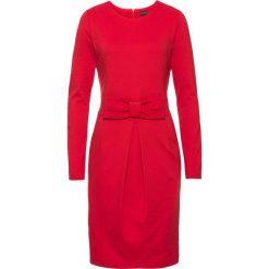 Sukienka bonprix czerwony. Czerwone sukienki dzianinowe bonprix, w paski, z kokardą. Za 109,99 zł.