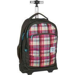 """Walizka-plecak """"Wheely"""" w kolorze czarno-czerwono-błękitnym - 33 x 52 x 19,5 cm. Czarne plecaki męskie Chiemsee Bags, w paski. W wyprzedaży za 260,95 zł."""
