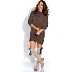 Swetry klasyczne damskie: Espresso Długi Sweter z Rękawem 3/4