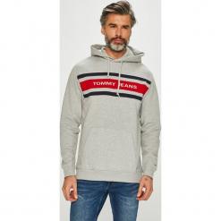 Tommy Jeans - Bluza. Szare bluzy męskie rozpinane marki Tommy Jeans, l, z bawełny, z kapturem. Za 449,90 zł.