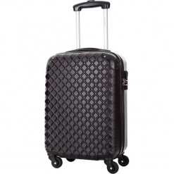 Walizka w kolorze czarnym - 34 l. Czarne walizki Bagstone & Travel One, z materiału. W wyprzedaży za 159,95 zł.