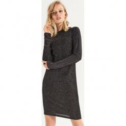 Dopasowana sukienka - Srebrny. Szare sukienki marki Sinsay, l, dopasowane. Za 49,99 zł.