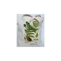Paproć - Eco torba bawełniana Torba na ramię Torba plażowa Torba ziołowa Rośliny Leśne. Zielone torby plażowe Mimi monster alicja Łaciak, z bawełny. Za 49,00 zł.