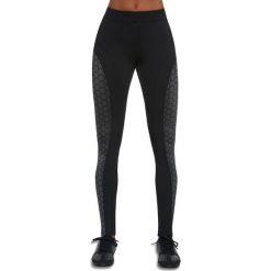 Spodnie damskie: Bas Black Legginsy damskie Escape czarno-szare r. XL (BB12596)