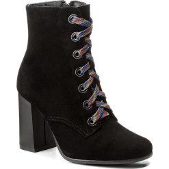Botki KOTYL - 1011 Czarny Zamsz. Czarne buty zimowe damskie Kotyl, ze skóry. W wyprzedaży za 299,00 zł.