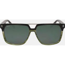Zielono czarne okulary przeciwsłoneczne. Czarne okulary przeciwsłoneczne męskie aviatory Kazar, z tworzywa sztucznego. Za 349,00 zł.