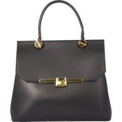 Torebki klasyczne damskie: Skórzana torebka w kolorze czarnym – 28 x 22 x 11 cm