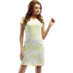 Sukienki hiszpanki: Sukienka w kolorze żółto-białym