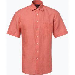 Nils Sundström - Męska koszula z dodatkiem lnu, pomarańczowy. Brązowe koszule męskie na spinki Nils Sundström, l, z klasycznym kołnierzykiem. Za 49,95 zł.