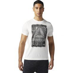 Reebok Koszulka BE More Human  biały r. XL (BQ8255). Szare topy sportowe damskie marki Reebok, l, z dzianiny, z okrągłym kołnierzem. Za 99,90 zł.