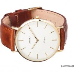 Zegarek OOZOO C7754 brown/white. Białe zegarki męskie Pakamera. Za 289,00 zł.