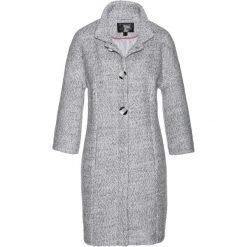 Płaszcze damskie: Płaszcz bonprix szaro-biały melanż