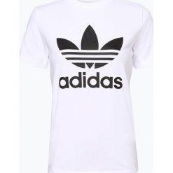 Adidas Originals - T-shirt damski, czarny. Szare t-shirty damskie marki adidas Originals, na co dzień, z nadrukiem, z bawełny, casualowe, z okrągłym kołnierzem, proste. Za 129,95 zł.