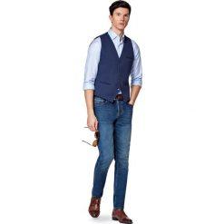 Jeansy Manhattan. Niebieskie jeansy męskie slim marki LANCERTO. W wyprzedaży za 299,90 zł.