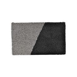 Puzderka: Kopertówka w kolorze srebrno-czarnym – (D)25 x (S)15 cm