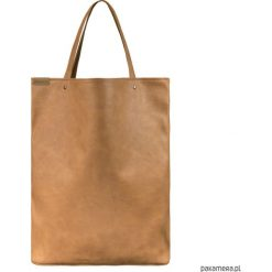 Mega shopper torba ruda vegan na codzień. Brązowe shopper bag damskie Pakamera. Za 170,00 zł.