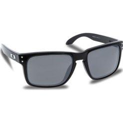 Okulary przeciwsłoneczne OAKLEY - Holbrook OO9102-E155 Polished Black/Prizm Black Iridium. Czarne okulary przeciwsłoneczne męskie aviatory Oakley, z tworzywa sztucznego. W wyprzedaży za 479,00 zł.