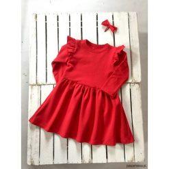 Sukienki dziewczęce dzianinowe: Sukienka red BEAUTY