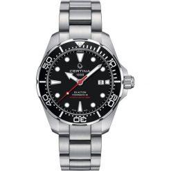 PROMOCJA ZEGAREK CERTINA DS Action C032.407.11.051.00. Czarne zegarki męskie CERTINA, ze stali. W wyprzedaży za 2895,20 zł.