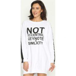 Bluzy damskie: Biała Bluza Impossible
