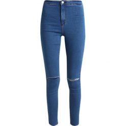 Missguided VICE HIGH WAISTED KNEE SLASH STONEWASH Jeans Skinny Fit stone. Niebieskie jeansy damskie Missguided. Za 139,00 zł.