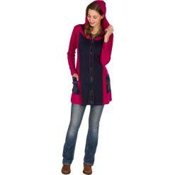 Bluzy rozpinane damskie: Bluza w kolorze czarno-różowym