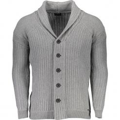 Kardigan w kolorze szarym. Niebieskie swetry rozpinane męskie marki Guess, z materiału. W wyprzedaży za 329,95 zł.