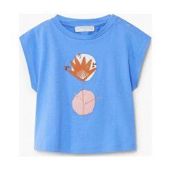 Bluzki dziewczęce bawełniane: Mango Kids - Top dziecięcy Azule 80-104 cm