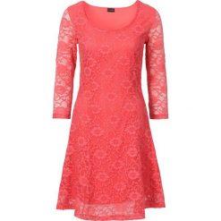 Sukienki: Sukienka z koronką bonprix koralowy