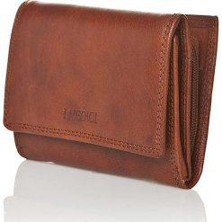 Portfele męskie: Skórzany portfel w kolorze brązowym – 8,5 x 12 x 3,5 cm