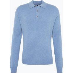 Swetry klasyczne męskie: Andrew James – Sweter męski z czystego kaszmiru, niebieski