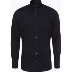 Olymp Level Five - Koszula męska łatwa w prasowaniu, czarny. Niebieskie koszule męskie non-iron marki OLYMP Level Five, m, paisley, ze stójką. Za 199,95 zł.